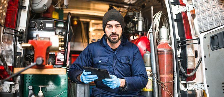 Tradesman and trade vehicle